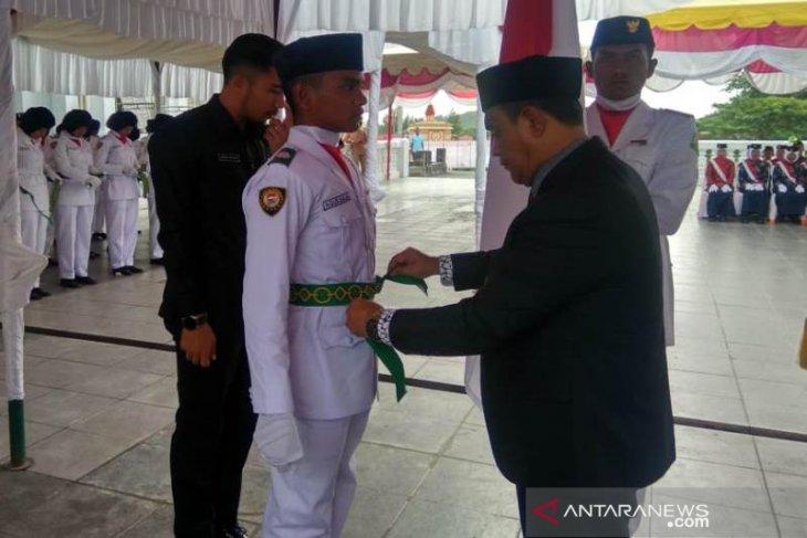Bupati Aceh Jaya kukuhkan 72 anggota pasukan Paskibraka