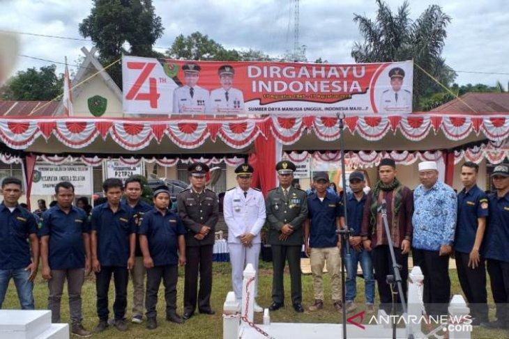 Peringatan HUT ke-74 RI Angkola Selatan berlangsung khidmat