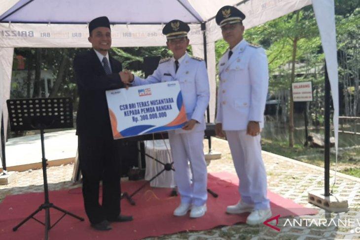 Bupati Bangka terima bantuan CSR dari BRI
