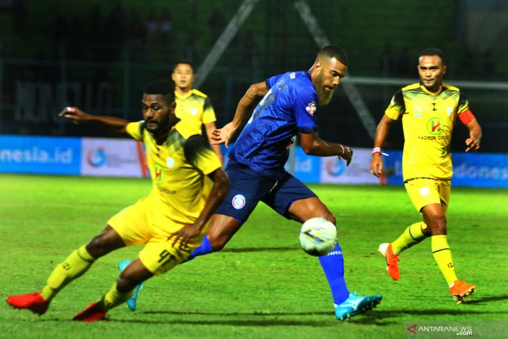 Hasil akhir Arema vs Barito Putra 2-1