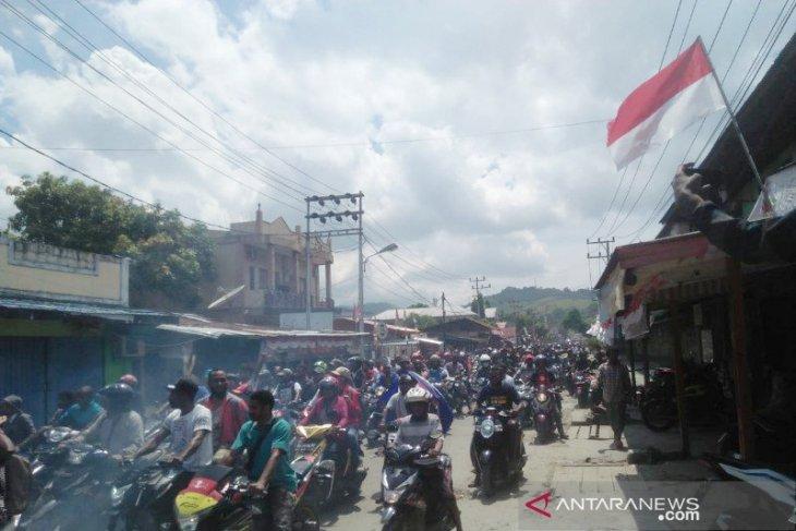 Demo anarkis, mobil Dandim Jayapura dirusak