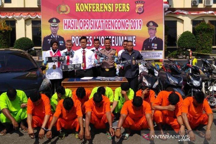 Polisi Lhokseumawe ringkus 16 pelaku curanmor