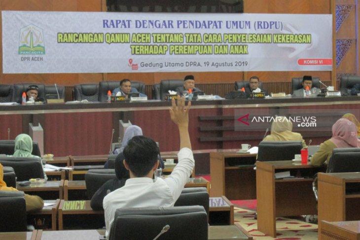 DPR Aceh gelar RDP raqan penyelesaian kekerasan perempuan  anak