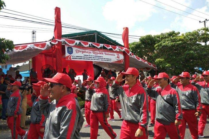 283 regu ikut meriahkan pawai indah di Kabupaten Bangka