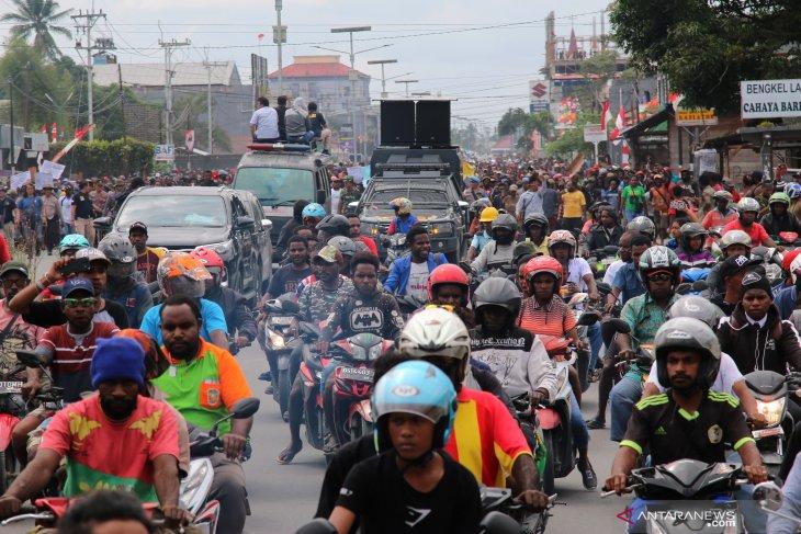 Polri: Lima titik aksi di Papua hari ini berakhir aman dan kondusif