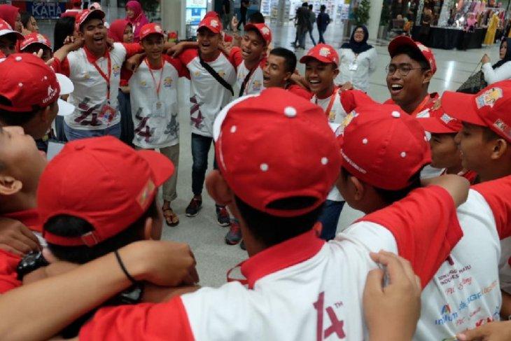 Peserta SMN Sulteng-Sumut  bertemu di Bandara Kualanamu