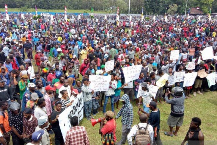 Unjuk rasa di Papua-Papua Barat berakhir aman