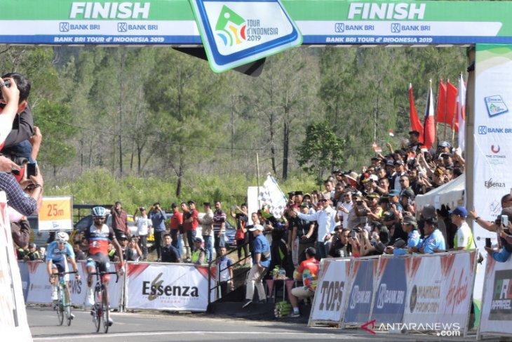 Klasemen hingga etape keempat BRI Tour d'Indonesia