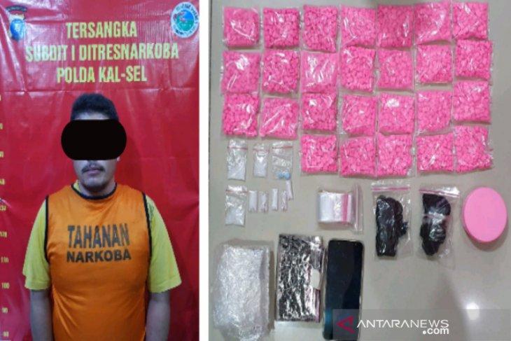 Polda Kalsel sita 2.580 butir pil ekstasi dari pengedar narkoba