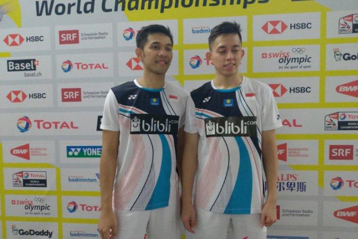 FajarRian ikuti AhsanHendra ke 16 besar Kejuaraan Dunia BWF