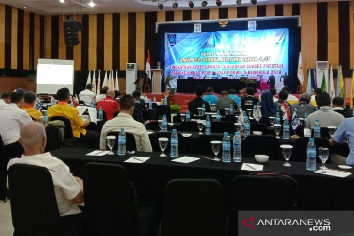 KONI Babel gelar rapat kerja persiapan Porwil dan PON XX di Papua