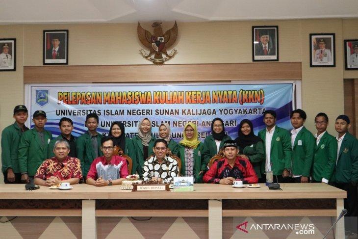 Wakil Bupati HSS lepas mahasiswa KKN UIN Sunan Kalijaga Yogyakarta dan UIN Antasari Banjarmasin