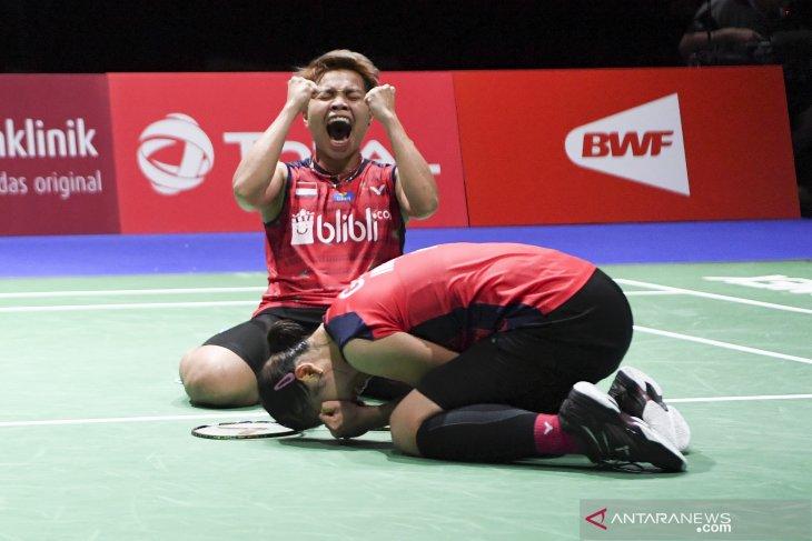Greysia/Apriyani ke semifinal Kejuaraan Dunia usai menangi laga ketat