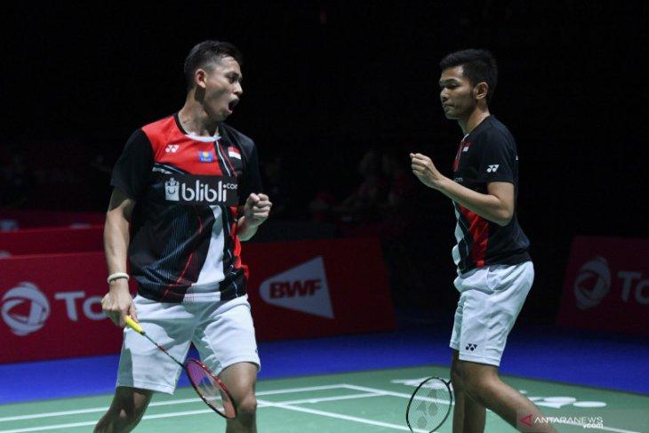 Fajar/Rian sumbang kemenangan pertama untuk Indonesia