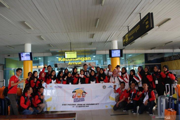 Peserta SMN Jambi tiba di Bandara Sultan Thaha