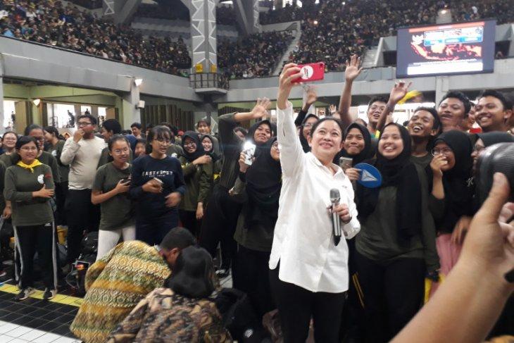 Puan Maharani dapat sambutan meriah mahasiswa baru UI