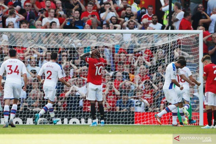 Rashford gagal penalti, MU dipecundangi Crystal Palace 1-2