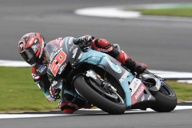 Quartararo kembali pecahkan  rekor tercepat FP3 di Silverstone