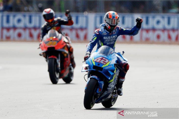 Hasil GP Inggris, Alex Rins menang dramatis atas Marquez