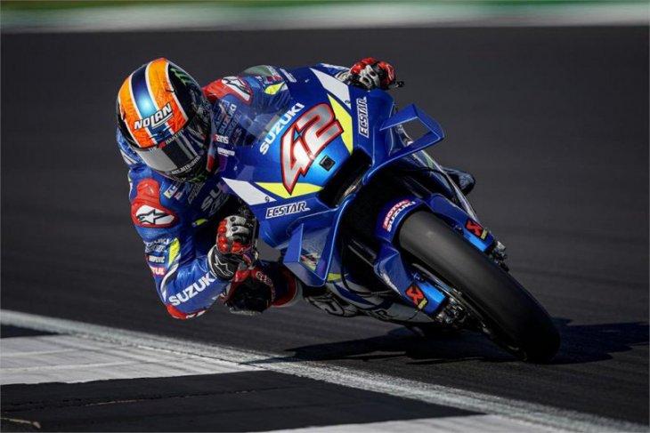 Rins kejutkan Marquez di tikungan terakhir GP Inggris