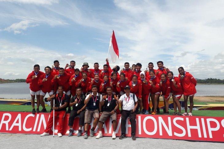 Indonesia bawa tujuh medali  dari kejuaraan dunia perahu naga Thailand