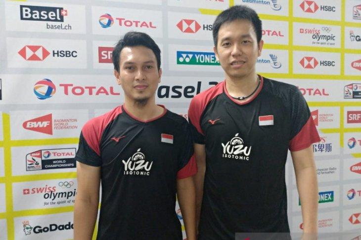 Ganda Hendra/Ahsan melaju ke final Kejuaraan Dunia