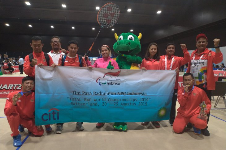 Indonesia secures four golds at Para-Badminton World Championship