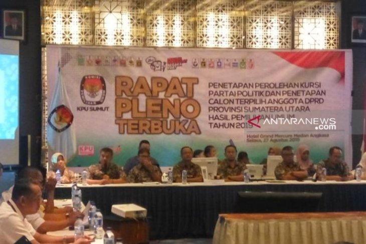 KPU tetapkan 100 anggota DPRD Sumut terpilih