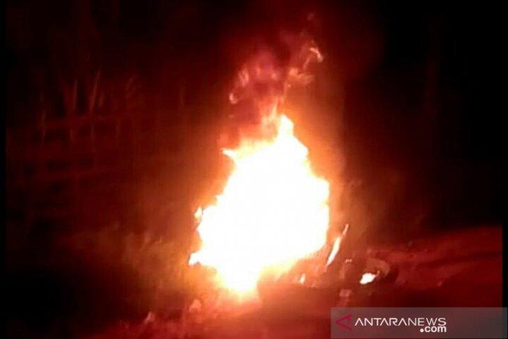 Maling kambing diamuk warga dan sepedanya dibakar di Aceh Utara