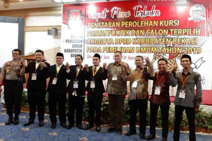 KPU Bekasi tetapkan 50 anggota DPRD periode 2019-2024