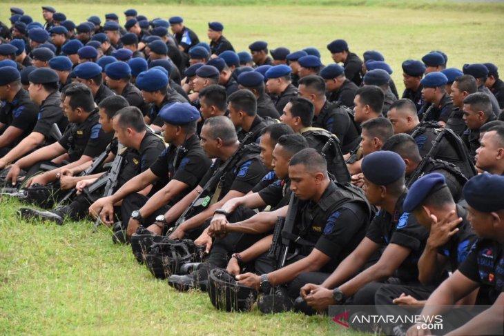 Papua Terkini - Perkuat keamanan, 381 personil Brimob untuk Papua Barat digeser ke Nabire