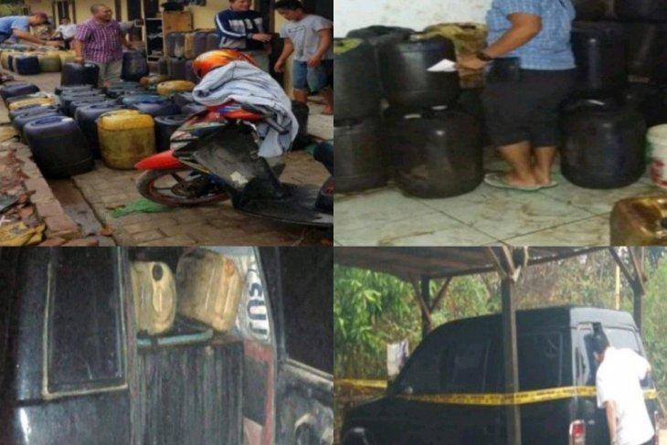 Polda Banten tangkap tiga penimbun BBM, ribuan liter solar diamankan