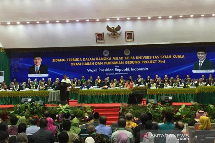 Wapres Jusuf Kalla sampaikan orasi ilmiah di Unsyiah