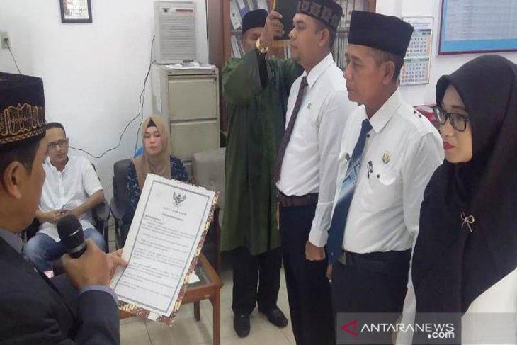 Tiga pejabat Disdukcapil Aceh Timur dilantik