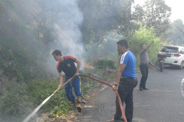 Terungkap oleh BPBD Rejang Lebong ada lahan yang sengaja dibakar