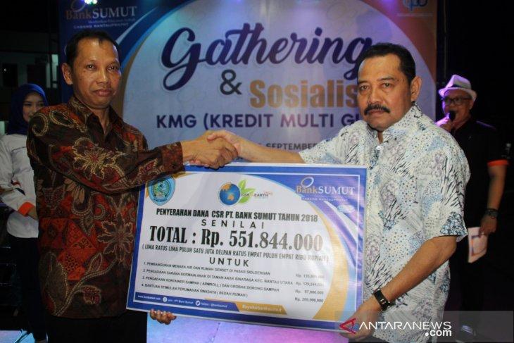 Bank Sumut salurkan CSR Rp551 juta