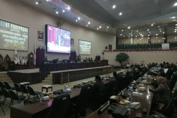 Sembilan fraksi DPRD Banten 2019-2024 ditetapkan dalam rapat paripurna