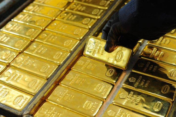 Harga emas berbalik naik 0,23 persen setelah turun empat hari beruntun