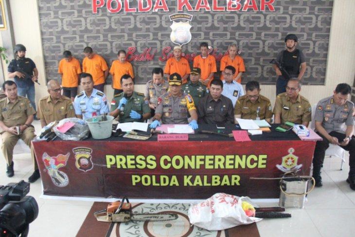 Jajaran Polda Kalbar tangani 50 kasus penegakan hukum Karhutla