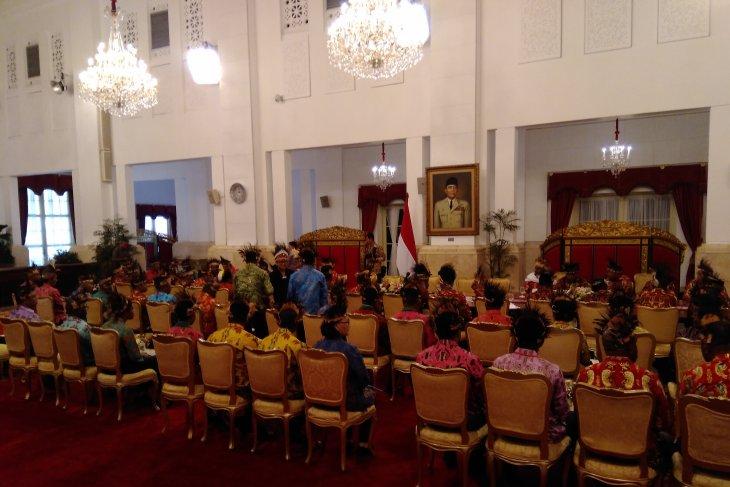 Jokowi terima tokoh Papua di Istana