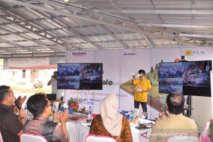 Dua desa di Kabupaten Belitung Timur tersambung internet gratis