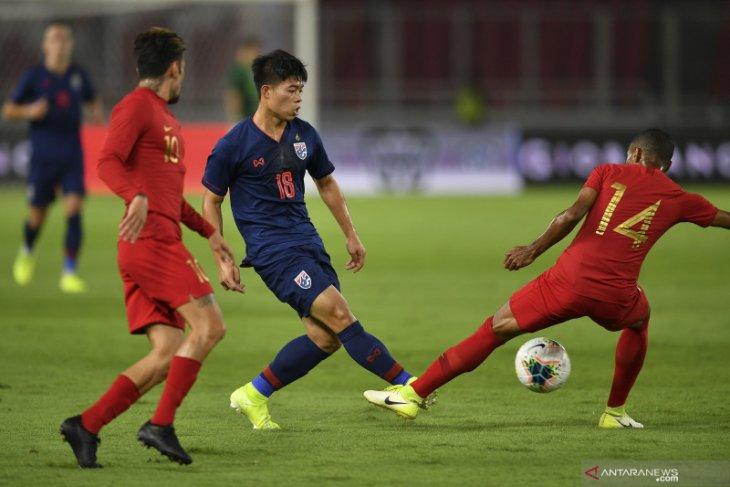 Jalannya pertandingan Indonesia vs Thailand, skor 0-3