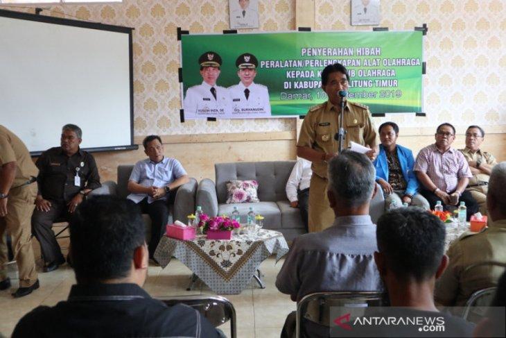 Pemerintah Kabupaten  Belitung Timur bantu 14 klub olahraga