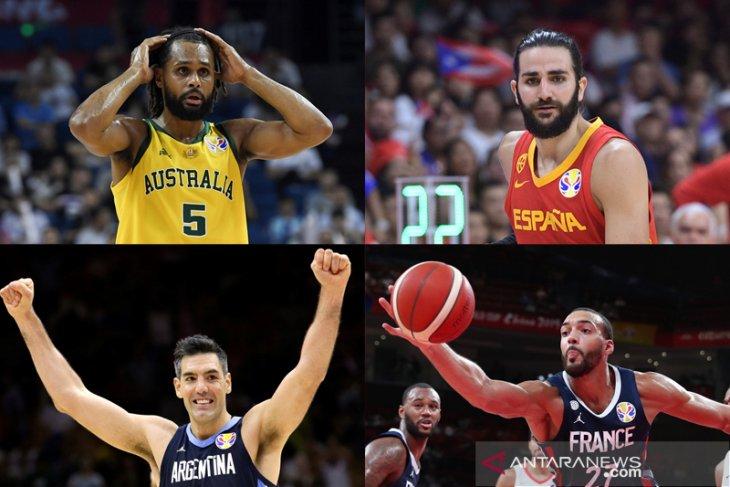 Semifinal piala dunia basket, Australia tantang Spanyol, Prancis hadapi Argentina