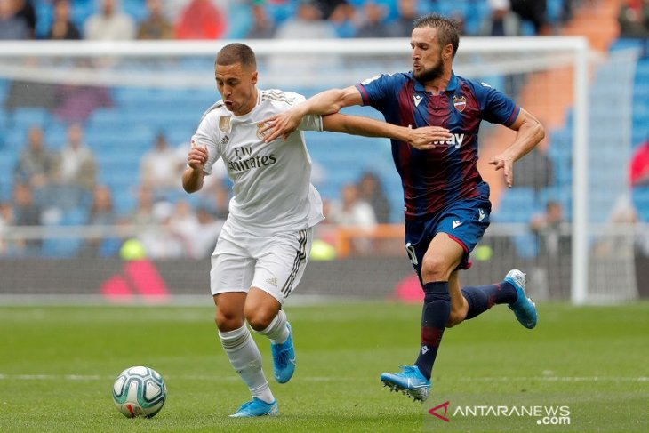 Di laga debut Hazard,  Madrid menang 3-2 atas Levante
