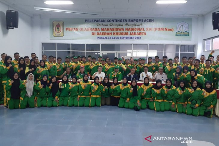 Kadispora lepas kontingen Pomnas Aceh, target 10 besar