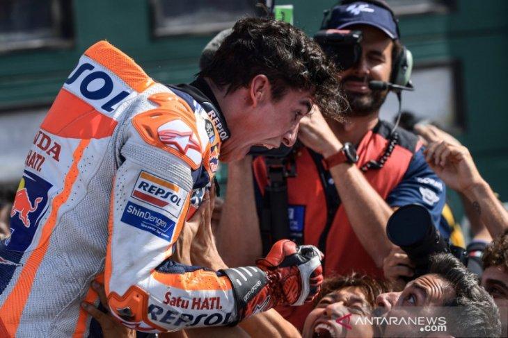 Marquez redam Quartararo di lap terakhir untuk juarai GP San Marino