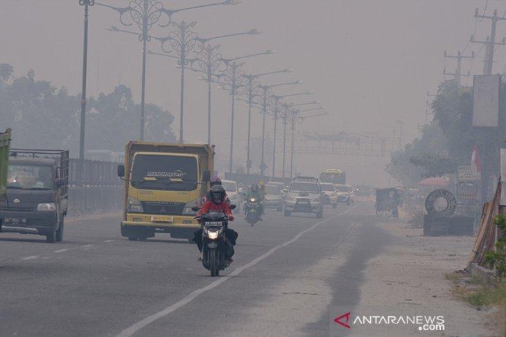 Jarak pandang anjlok jadi 500 meter di Pekanbaru