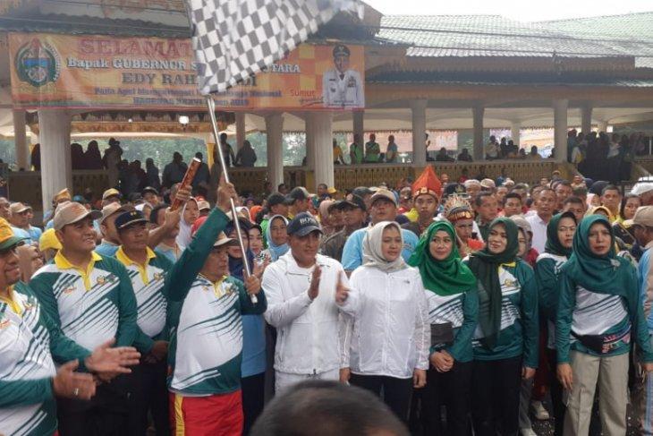 Gubernur ajak masyarakat terapkan gaya hidup sehat melalui olahraga