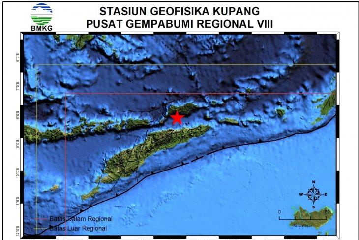 Gempa magnitudo 4.4  guncang  Alor